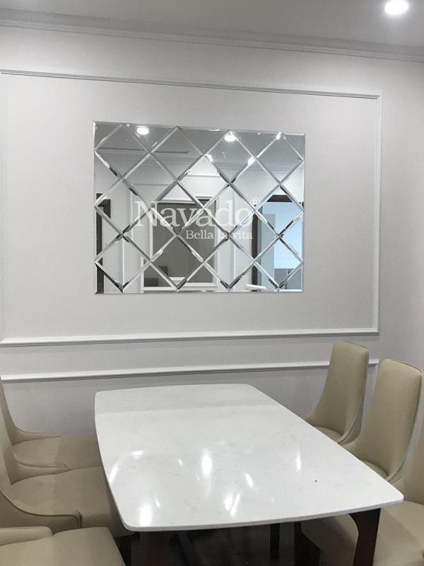 Gương ghép nghệ thuật phòng bếp