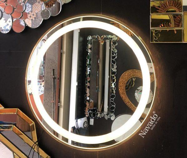 Gương led vành thép